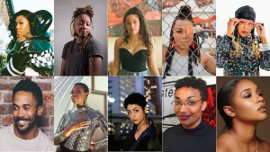 Collage of Detroit artists' headshots